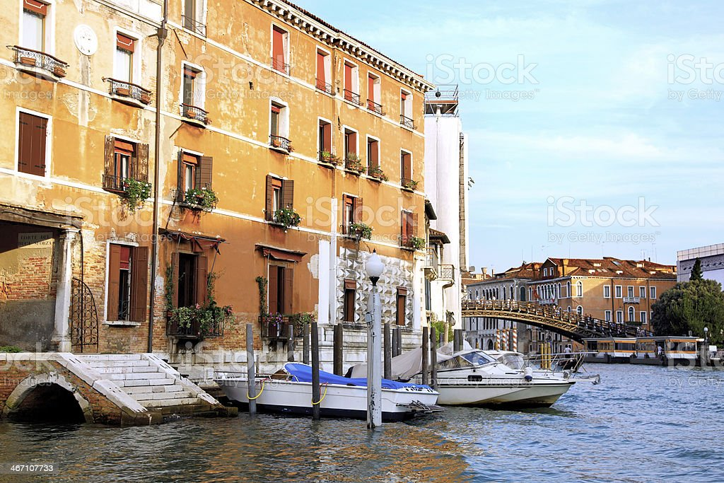 Beautiful street,Grand Canal in Venice, Italy royalty-free stock photo
