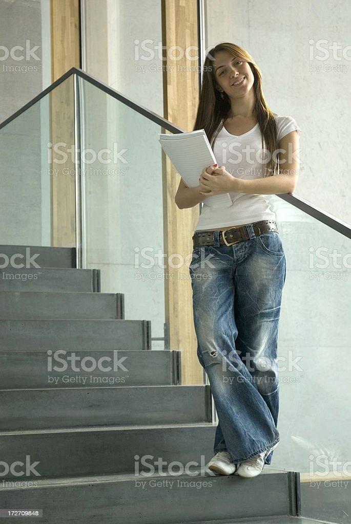 beautiful student girl royalty-free stock photo