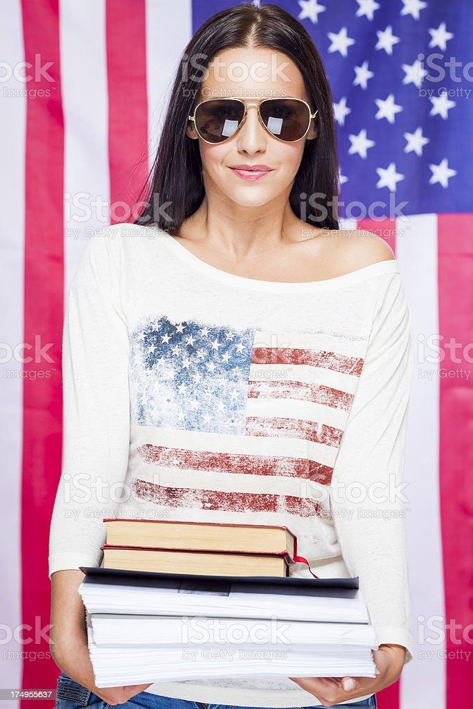 Beautiful student royalty-free stock photo