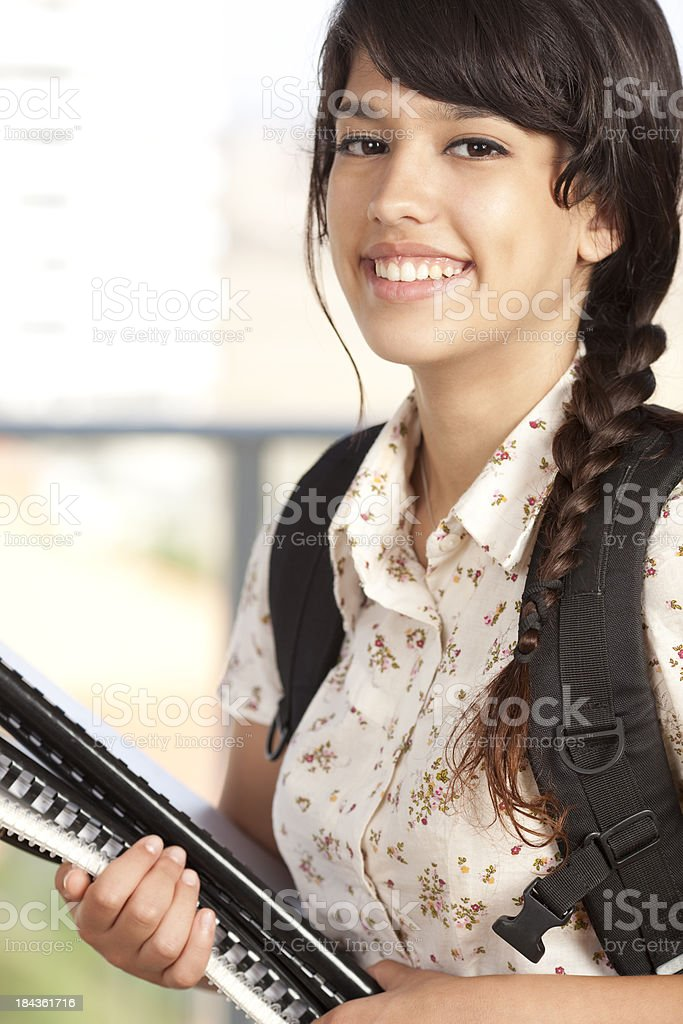 Beautiful student. royalty-free stock photo