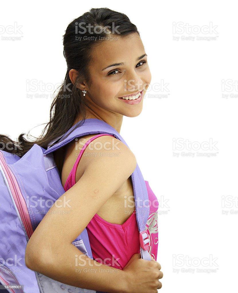 Beautiful student teenage girl royalty-free stock photo