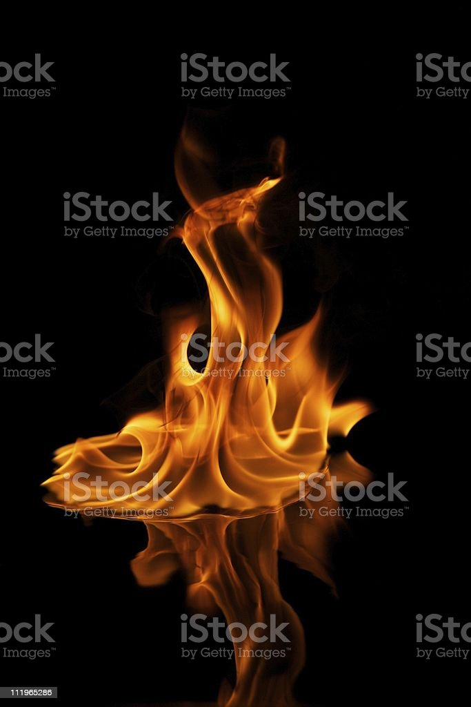 Beautiful stylish fire flames stock photo
