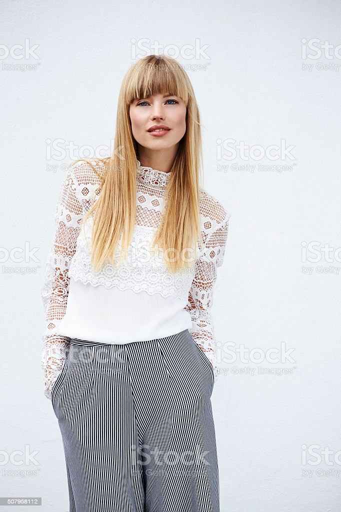 Beautiful stylish model stock photo