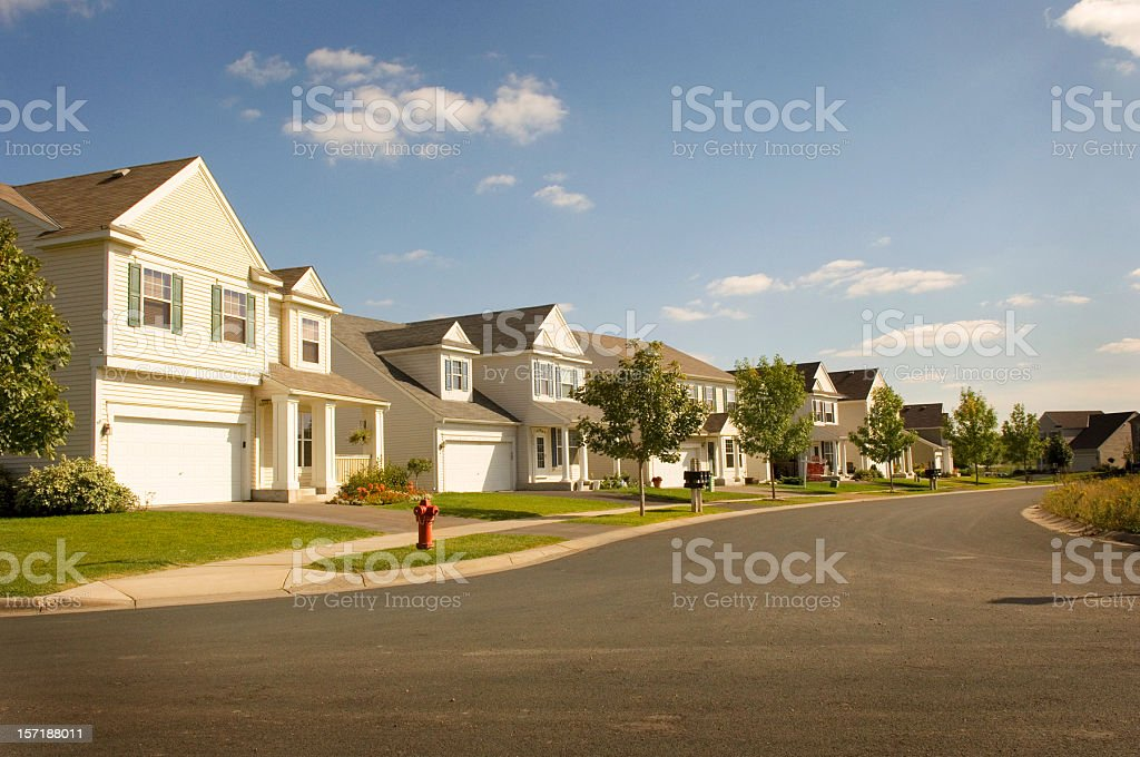 Beautiful Suburbia stock photo