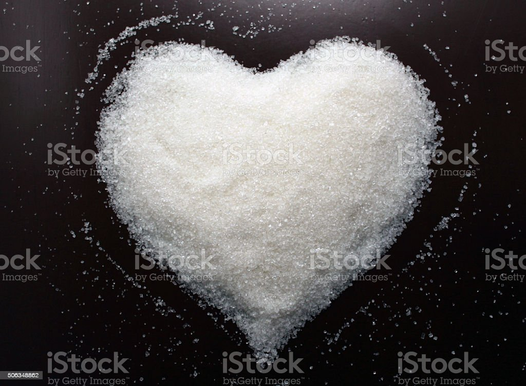 Beautiful Sugar heart. Background Valentines Day. Valentines day cards. stock photo