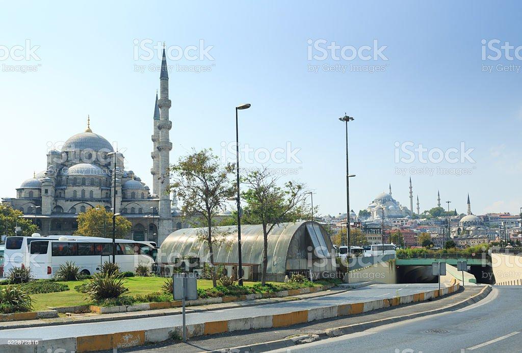 Beautiful Suleymaniye Camii in Istanbul, Turkey stock photo