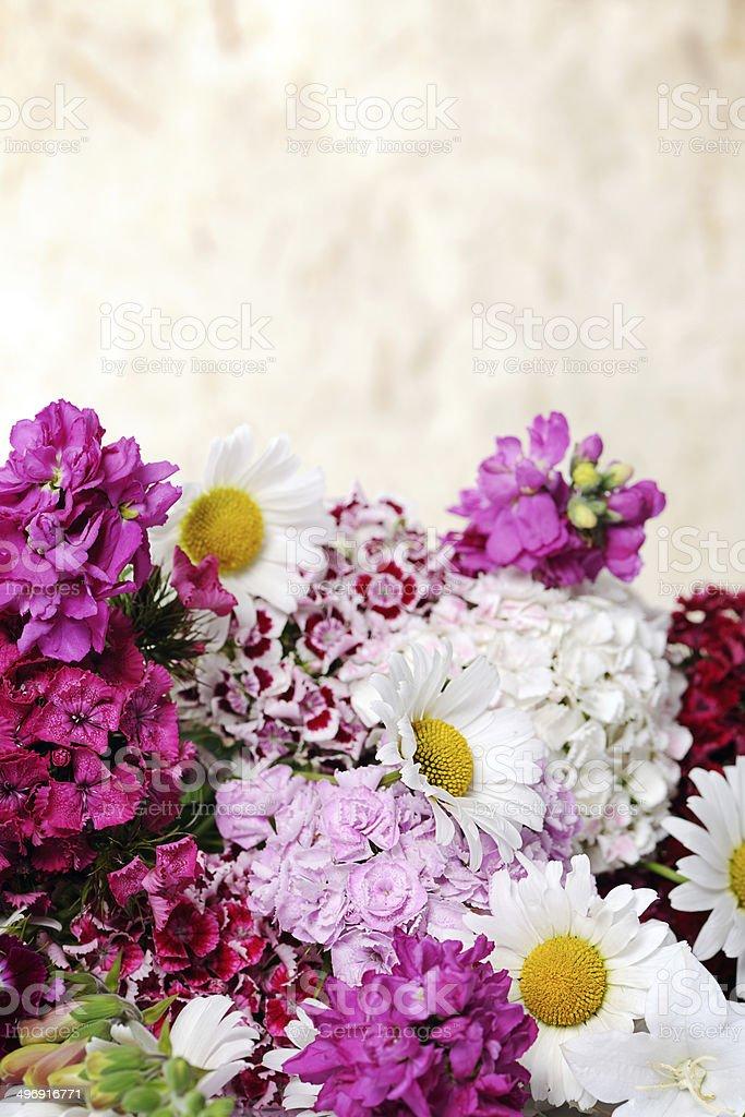 beautiful summer bouquet stock photo