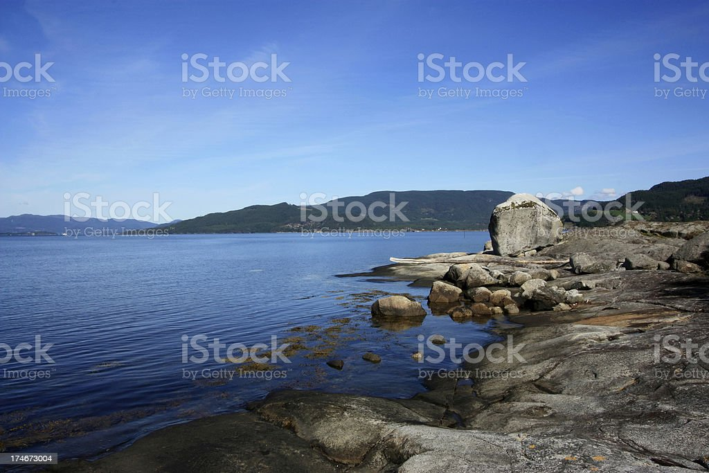 Beautiful summer day in Norway fjord. royalty-free stock photo