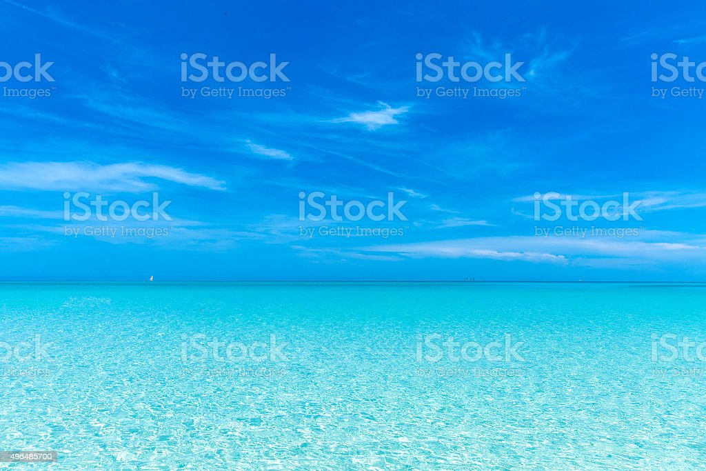 Beautiful summer day on the beach stock photo