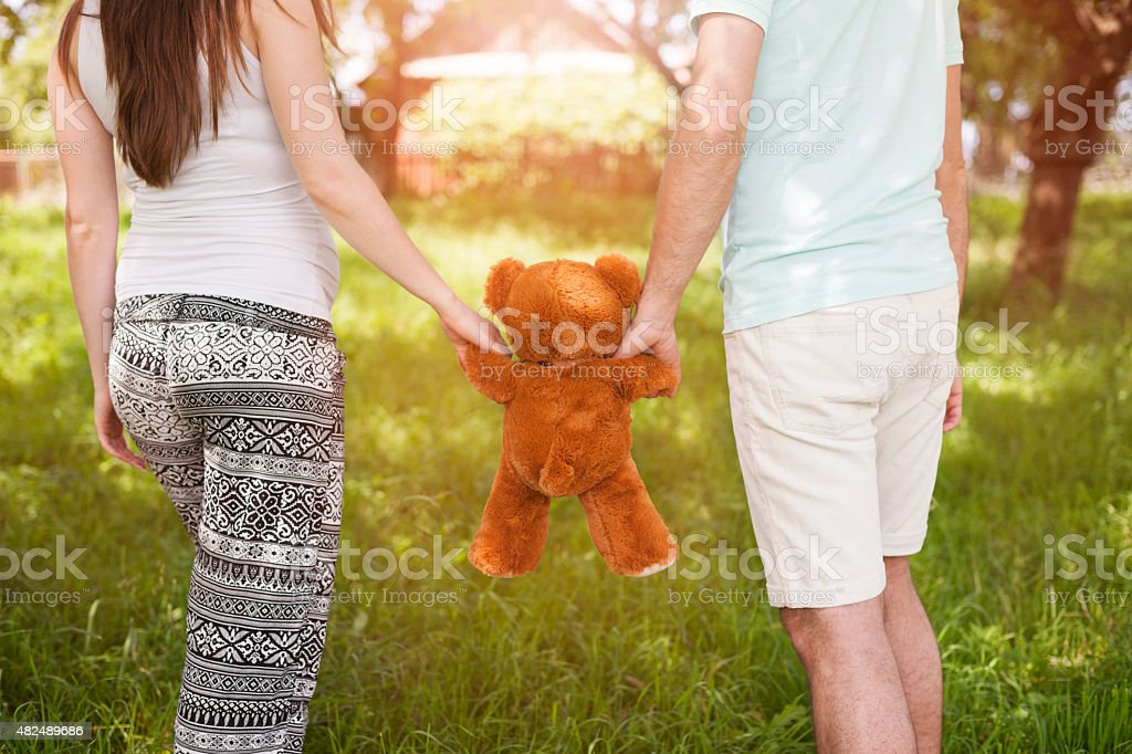 Beautiful summer day to go for a walk stock photo