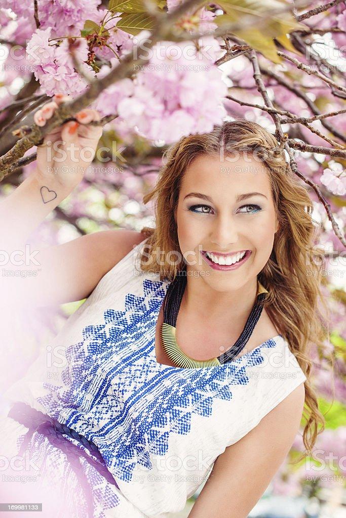 Beautiful summer girl royalty-free stock photo