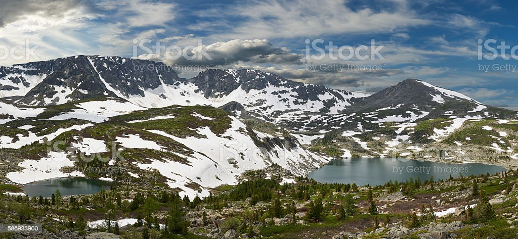 Beautiful summer landscape, Altai mountains Russia. stock photo
