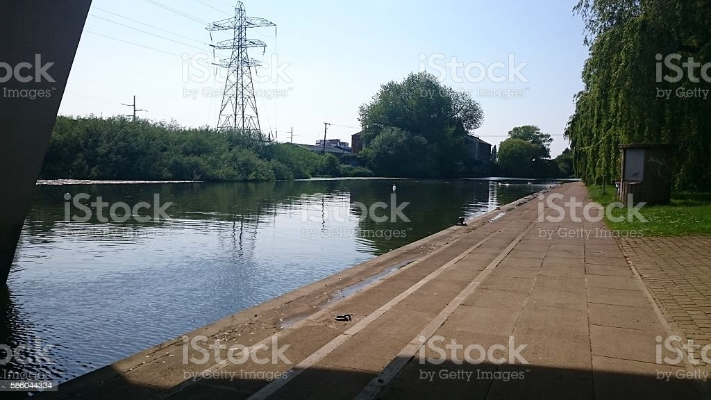Beautiful summers day at the River Enbankment stock photo