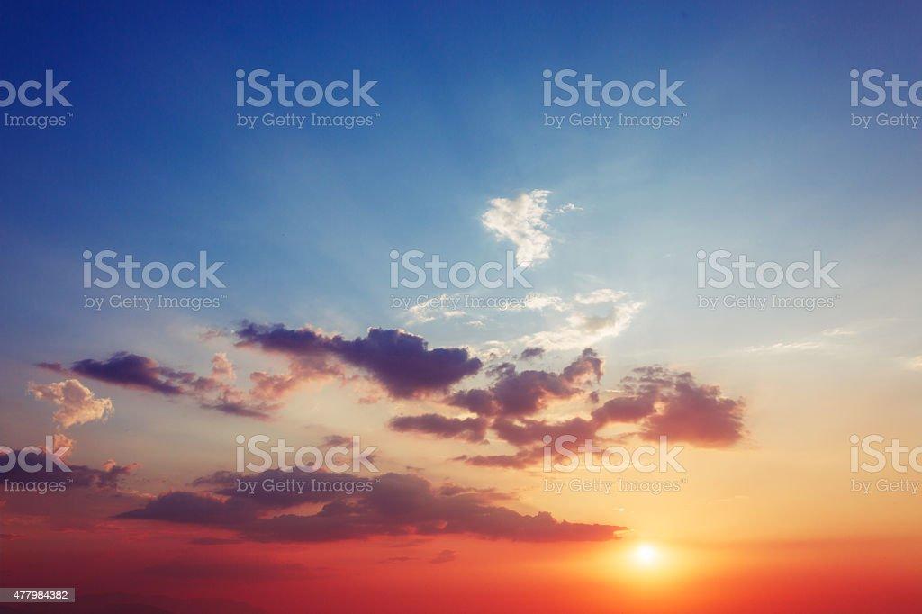 Beautiful sun rise sky - Nature stock photo