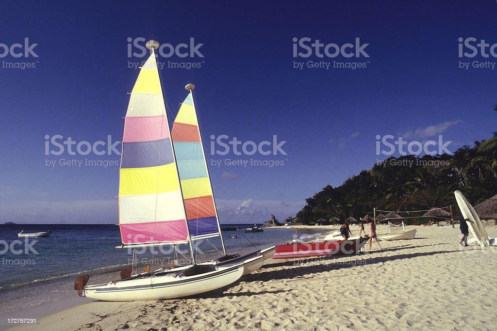 Beautiful Sunny Day At Beach stock photo