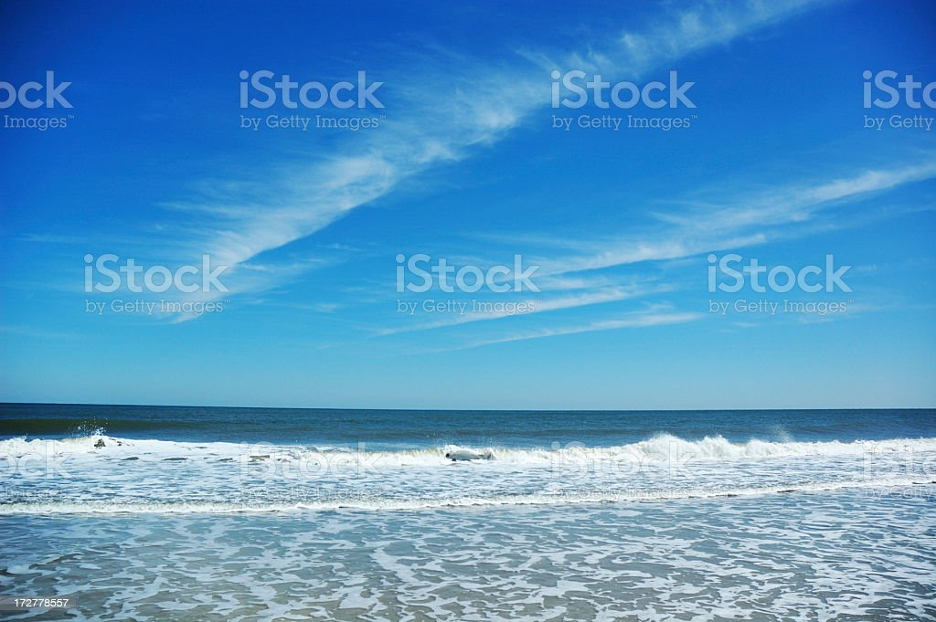 Beautiful Sunny Day at Fernandina Beach Amelia Island stock photo