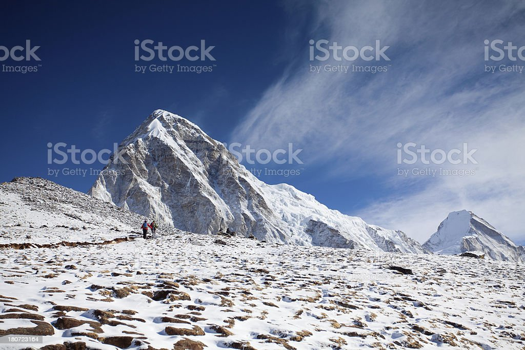 Beautiful sunny morning on Himalayan Heights stock photo