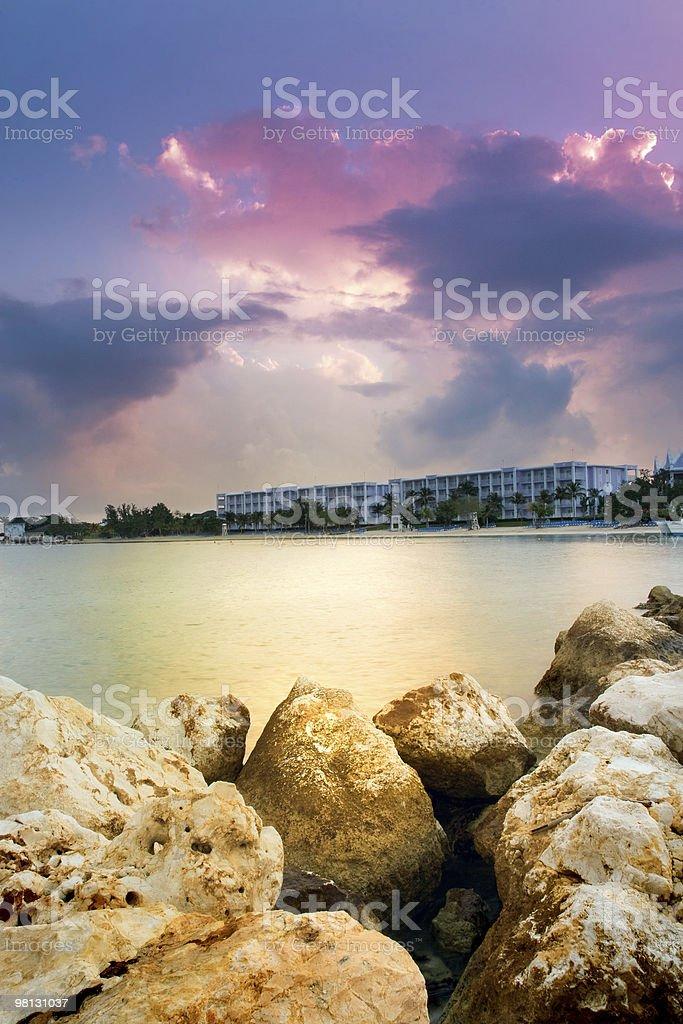 Beau lever de soleil sur la plage photo libre de droits