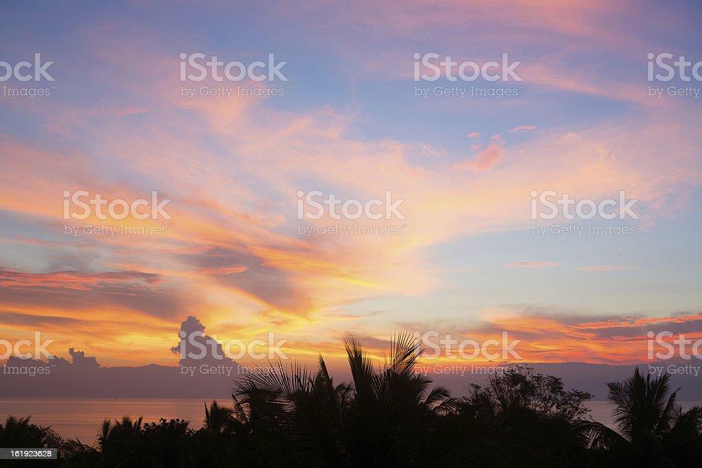 Beautiful sunrise at Panglao, Philippines royalty-free stock photo