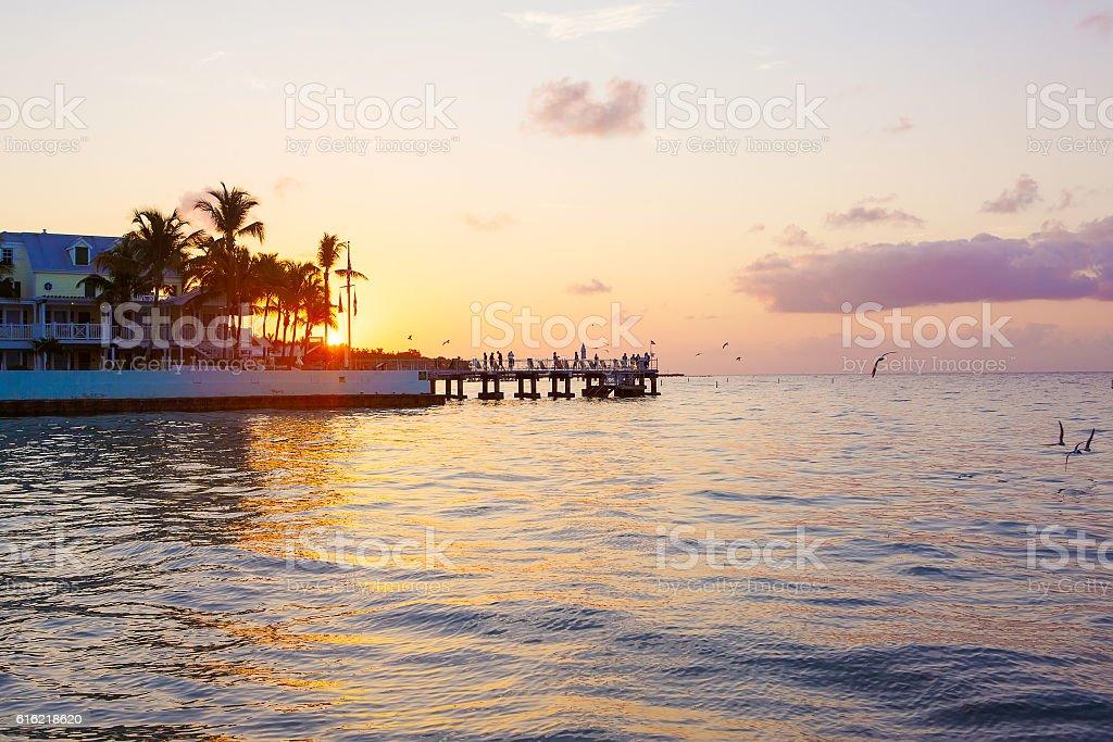 Beautiful sunrise on Key West, Florida, USA stock photo