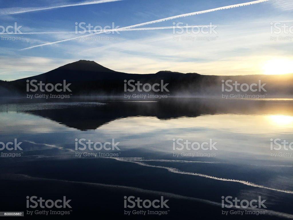 Beautiful Sunrise Over Little Lava Lake Oregon Stock Photo | Getty ...