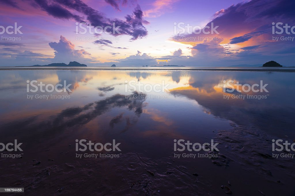 Beautiful sunrise over the sea royalty-free stock photo