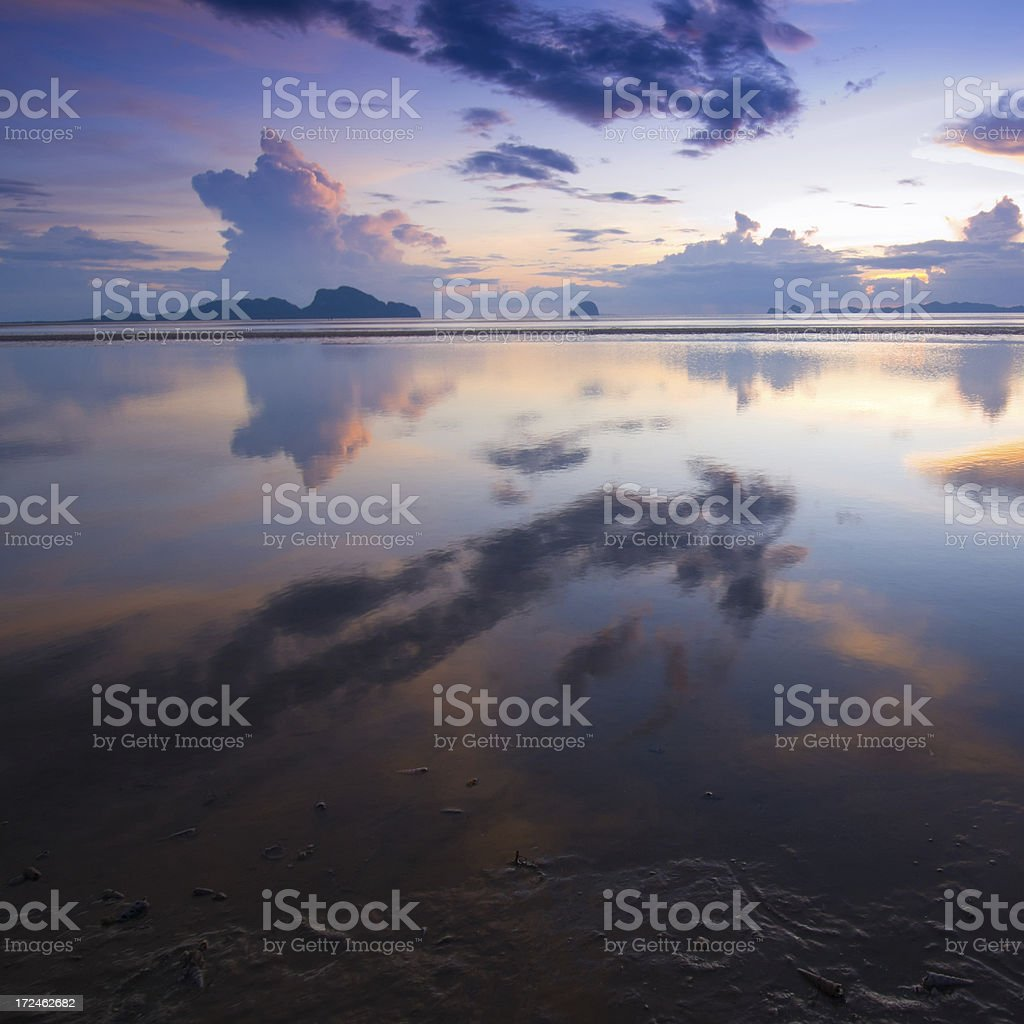Beautiful sunrise over the sea royalty-free stock photo