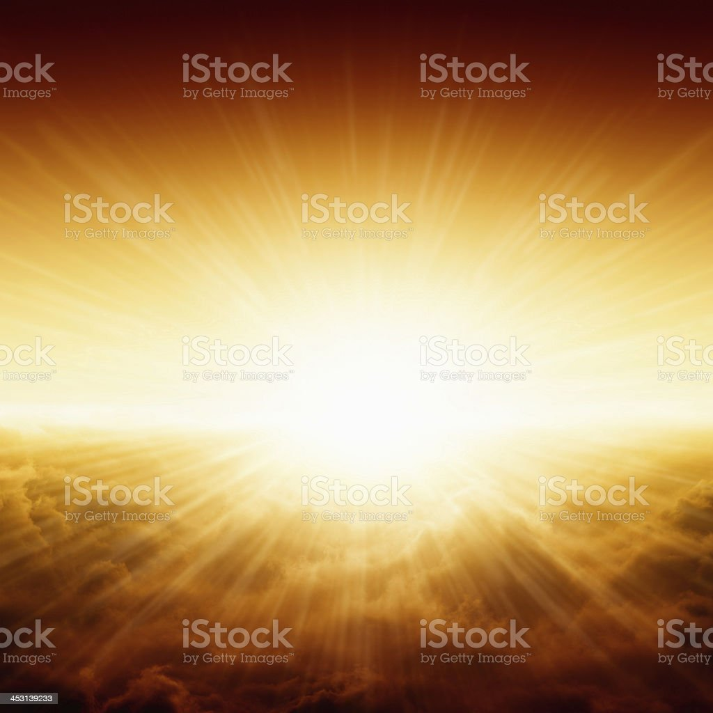 Beautiful sunrise stock photo