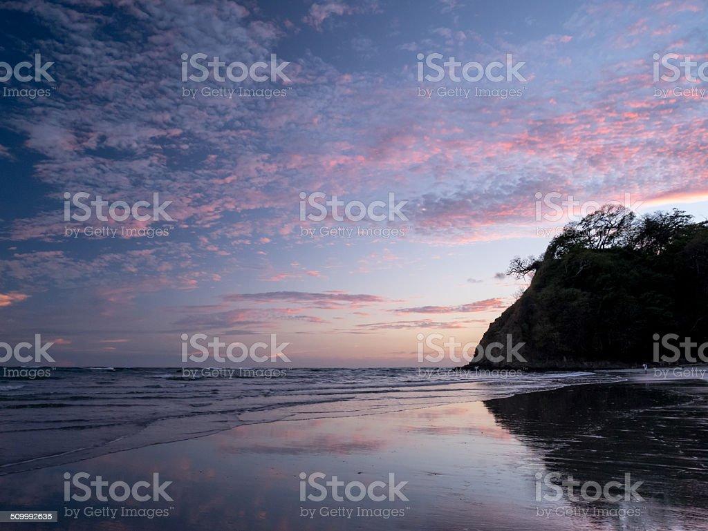 Beautiful sunset at Beach royalty-free stock photo