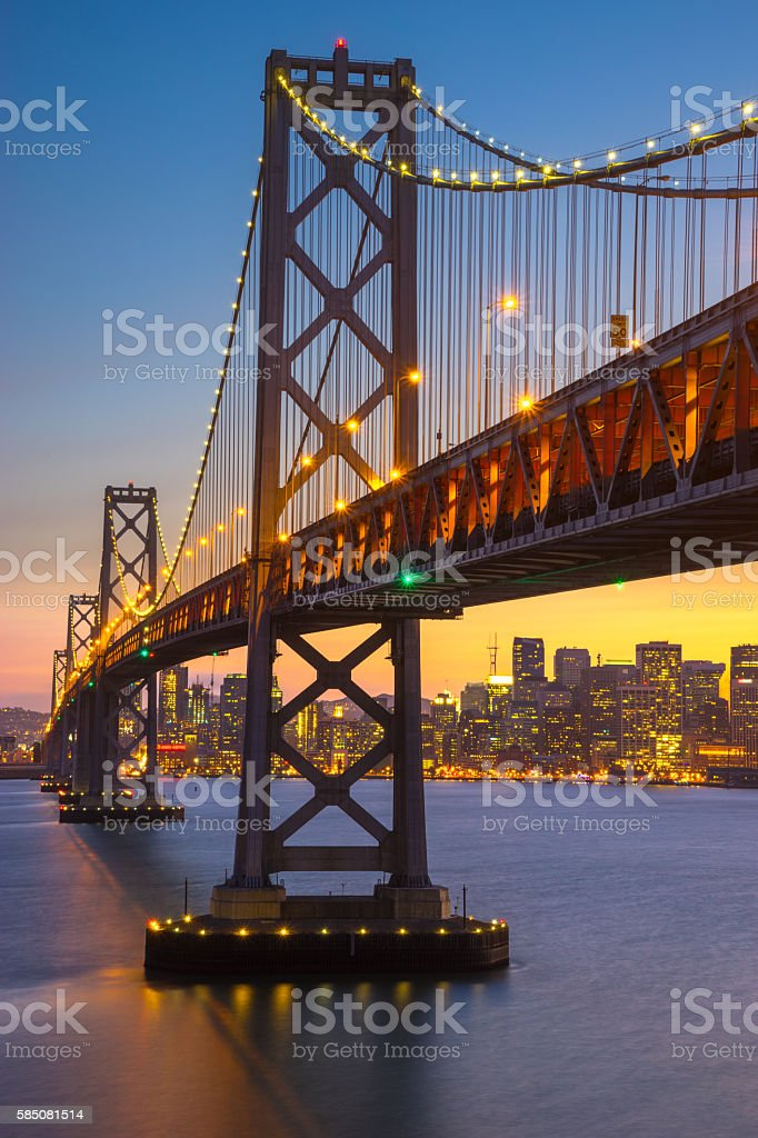 Beautiful Sunset at San Francisco Bay stock photo