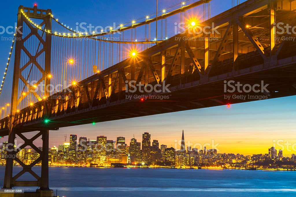 Beautiful Sunset at San Francisco Bay royalty-free stock photo