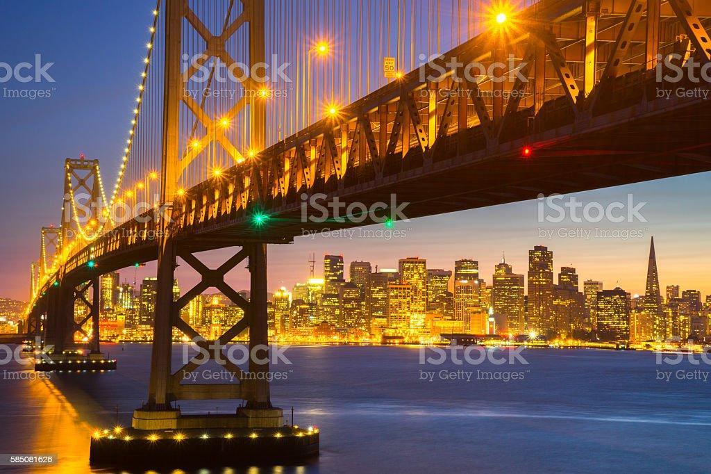 Beautiful Sunset at San Francisco Bay royalty-free stock photo