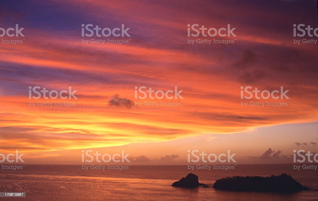 Beautiful sunset at sea royalty-free stock photo