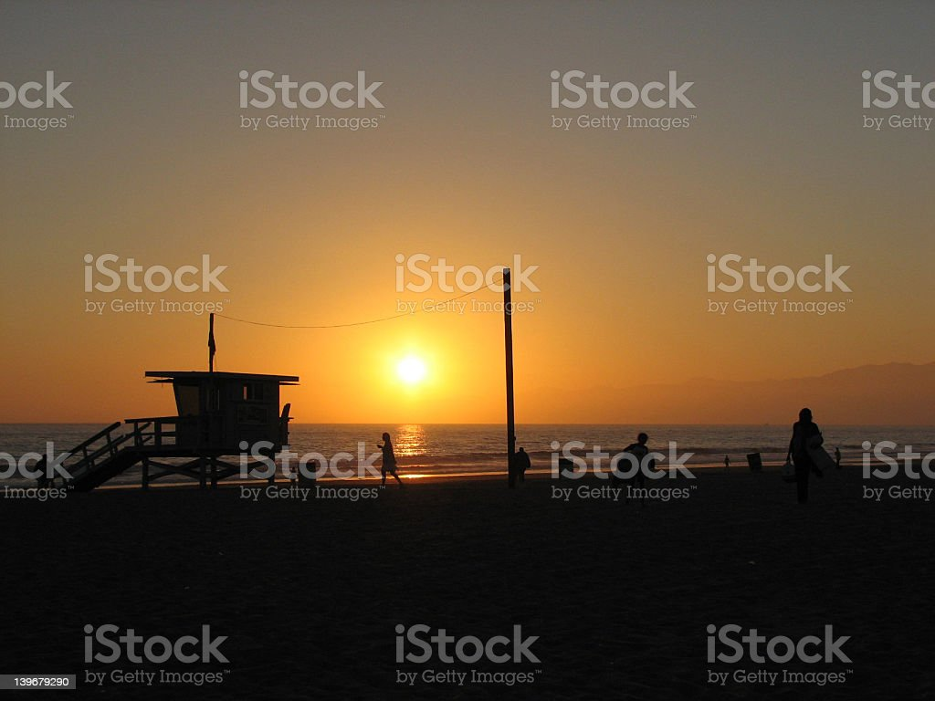 Beautiful Sunset California stock photo