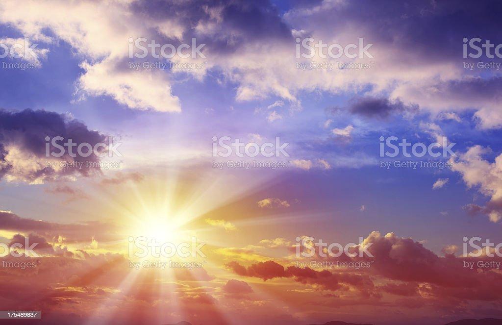 Beautiful Sunset Cloudscape stock photo