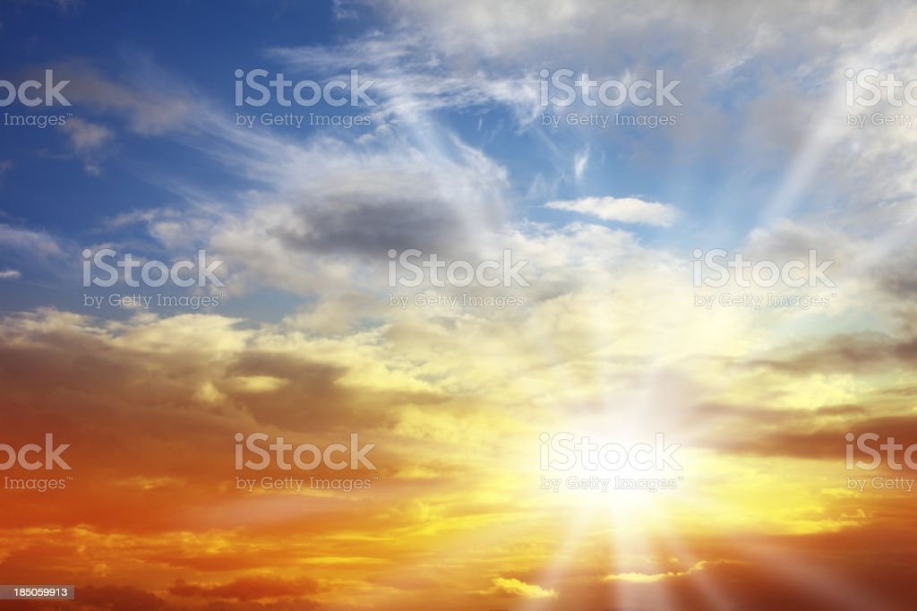 Beautiful Sunset Cloudscape stock photo