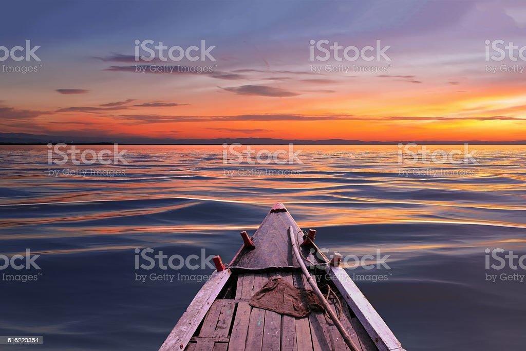 beautiful sunset day stock photo