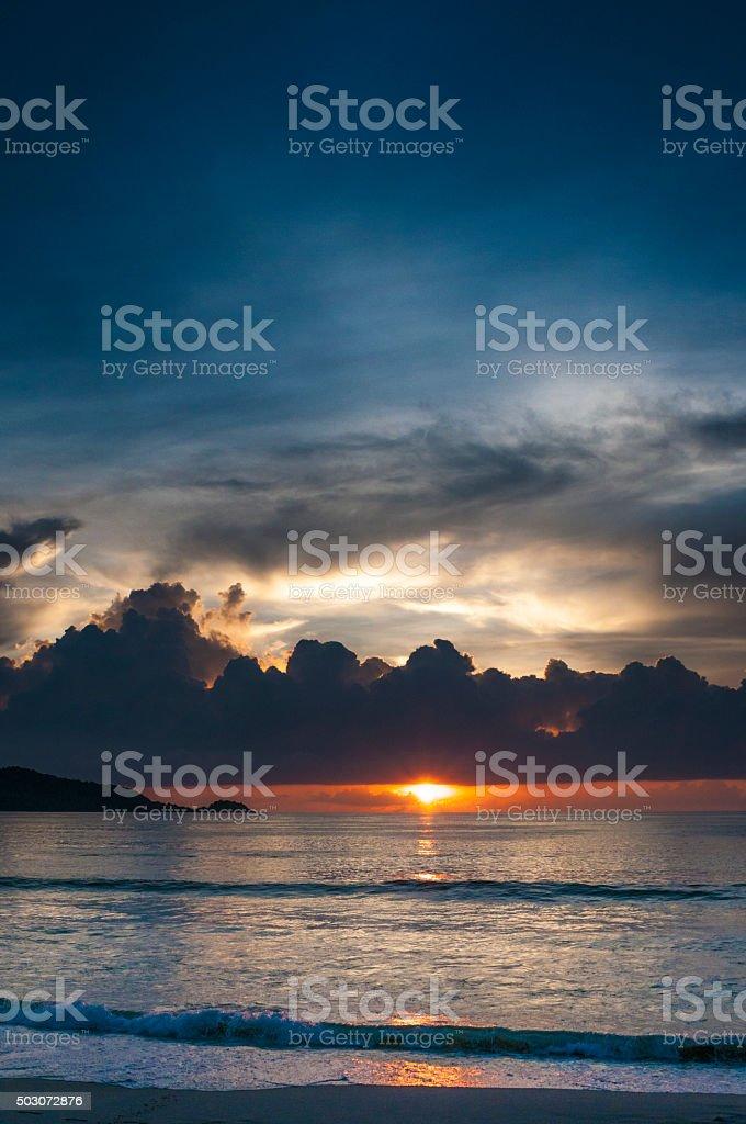 Beautiful Sunset From Patong Beach In Phuket, Thailand stock photo