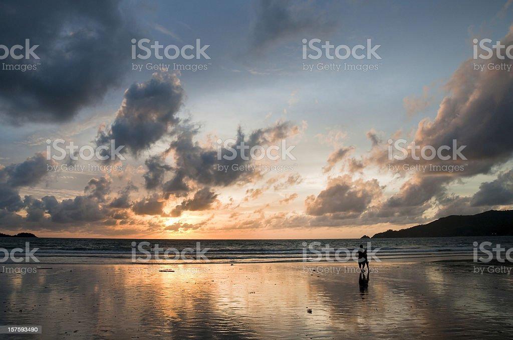 Beautiful Sunset In Phuket stock photo