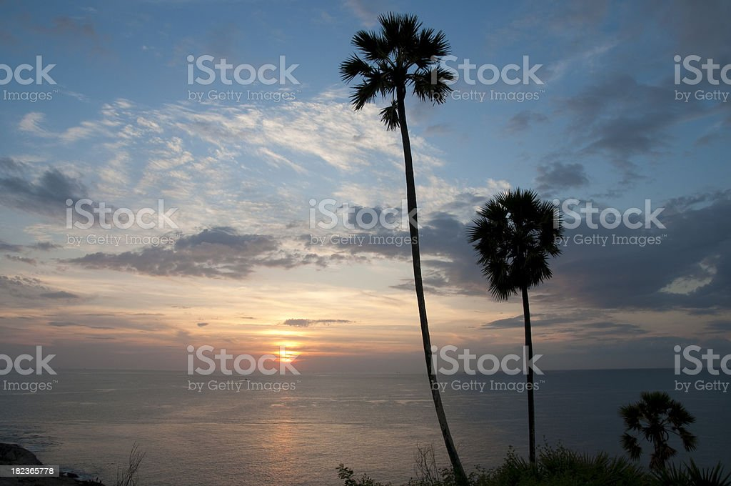 Beautiful Sunset In Thailand stock photo