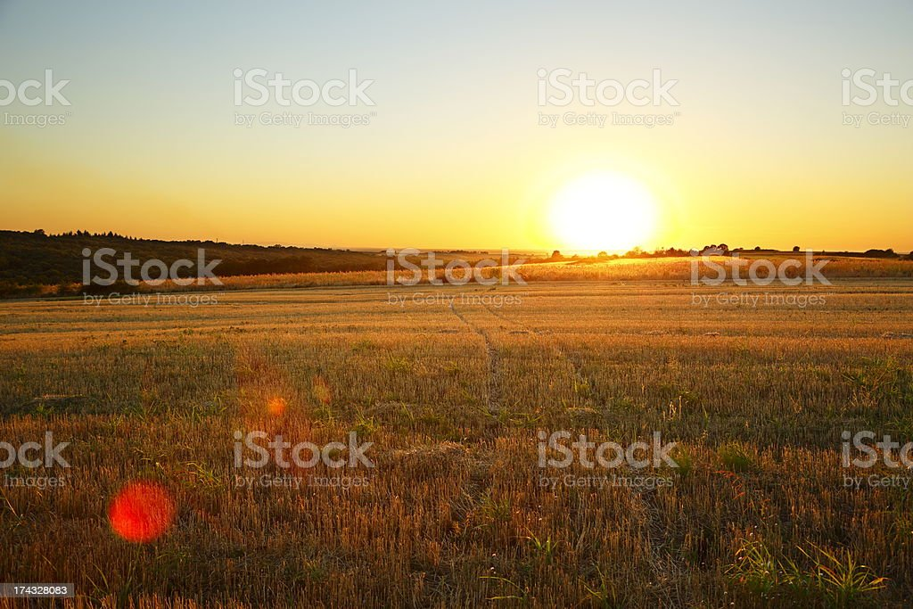 Beautiful Sunset Landscape-XXXL royalty-free stock photo