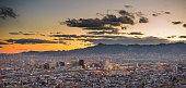Beautiful sunset of El Paso and Juarez