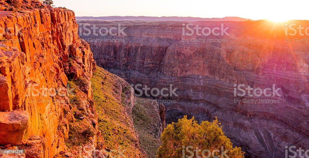 Beautiful sunset over Grand Canyon Lizenzfreies stock-foto