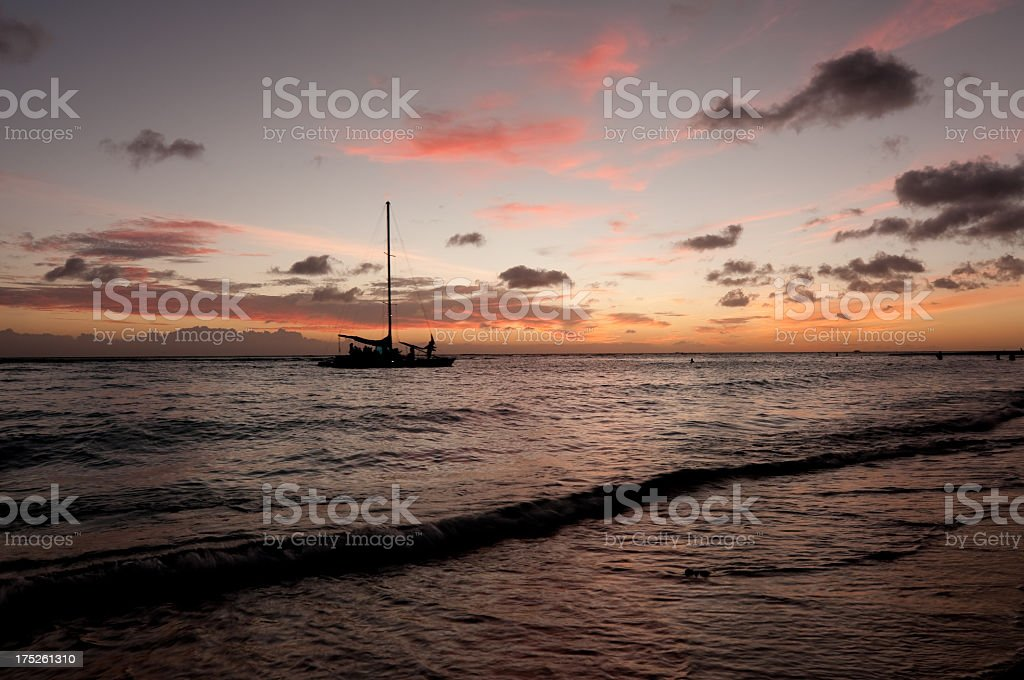 Beautiful Sunset over the Pacific Ocean royalty-free stock photo