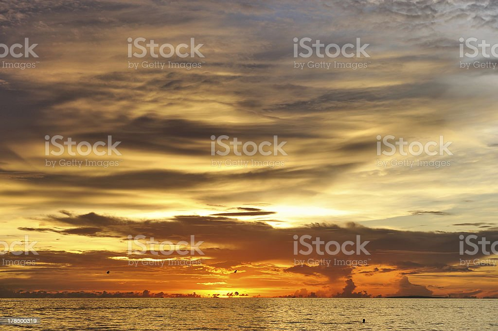 Beautiful sunset royalty-free stock photo