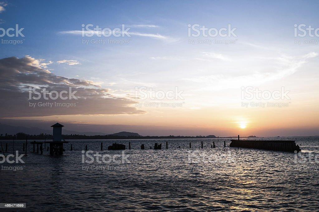 Piękny zachód słońca zbiór zdjęć royalty-free