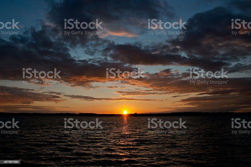 Hermosa puesta de sol foto de stock libre de derechos