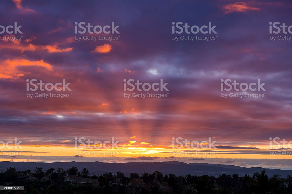 Beautiful sunset. stock photo