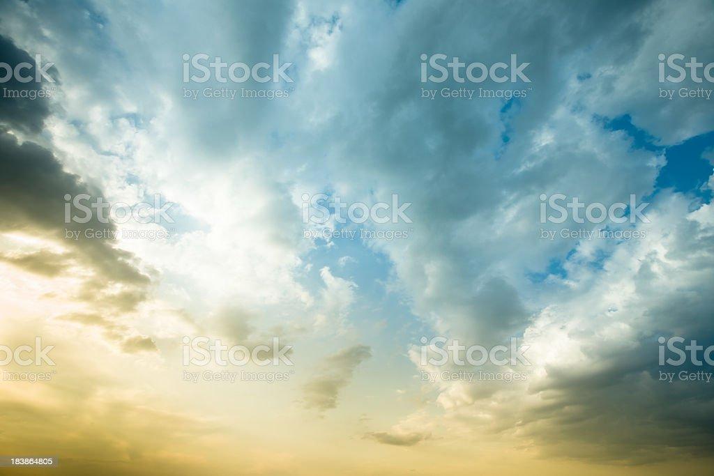 Beautiful Sunset Sky royalty-free stock photo