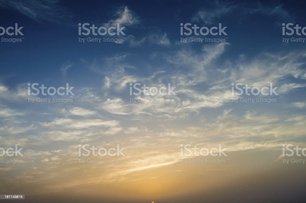 Beautiful Sunset with Clouds stock photo